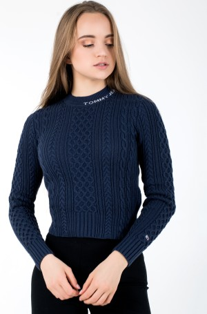 Sweater TJW BRANDED NECK CABLE SWEATER-1