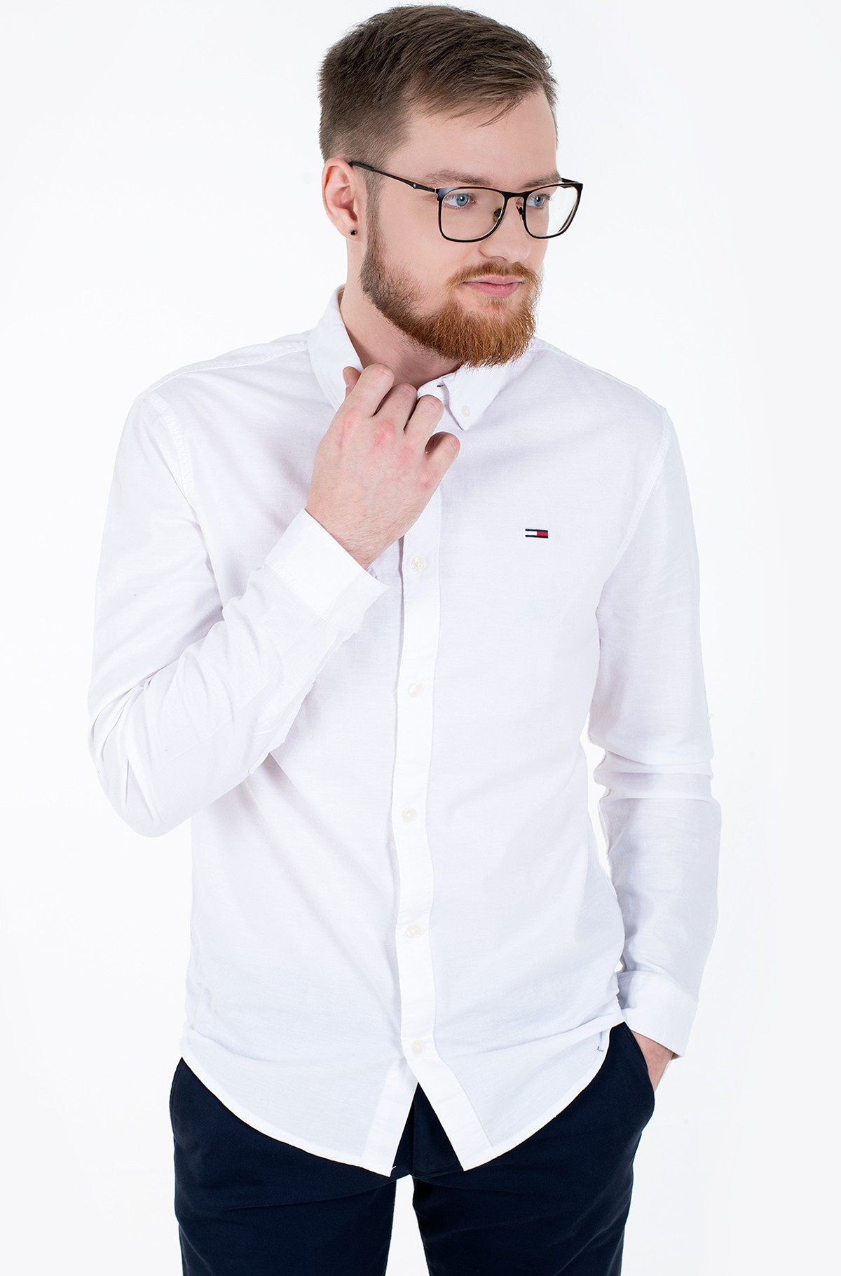 Triiksärk TJM SLIM STRETCH OXFORD SHIRT-full-1
