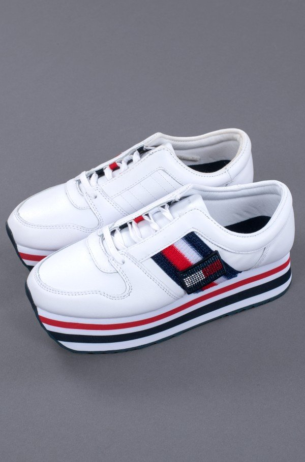 TOMMY CUSTOMIZE FLATFORM SNEAKER-hover