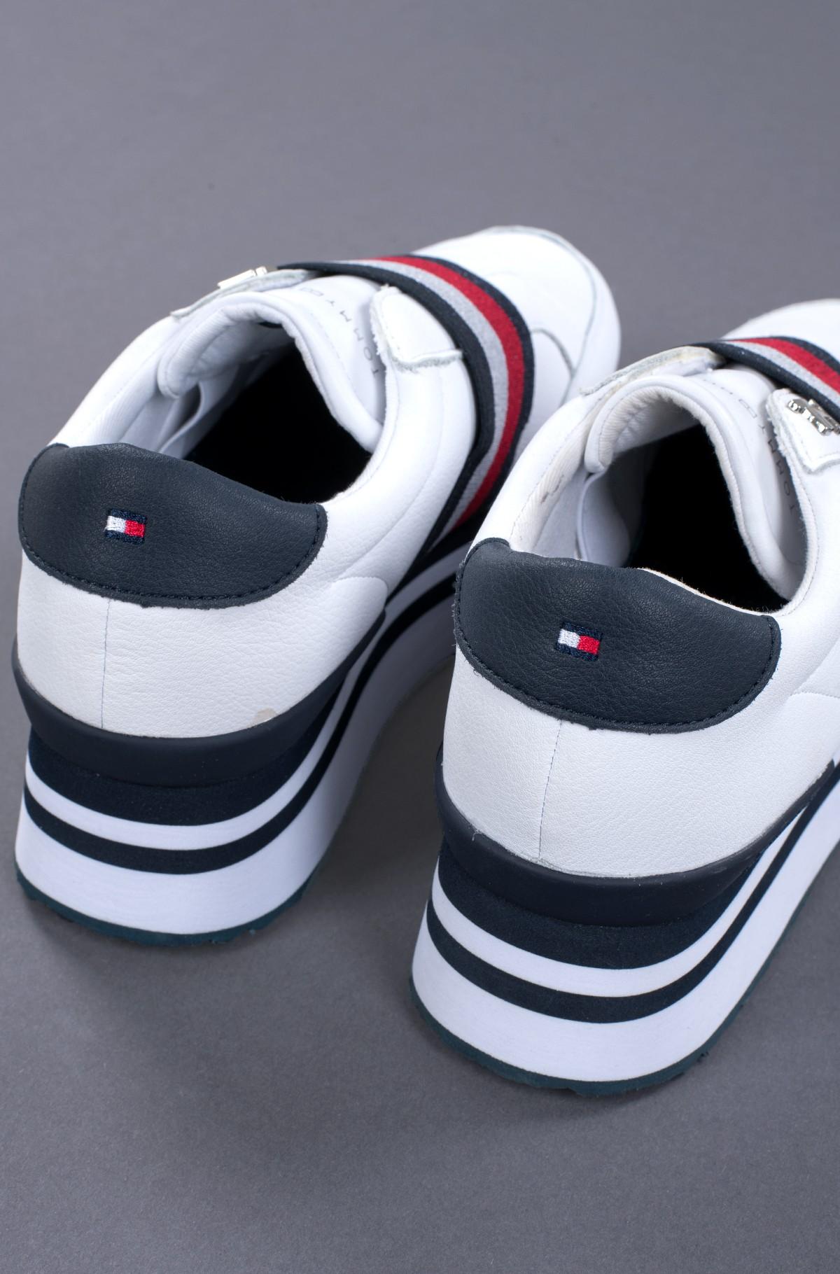 Vabaaja jalanõud ELASTIC SLIP ON FLATFORM SNEAKER-full-4