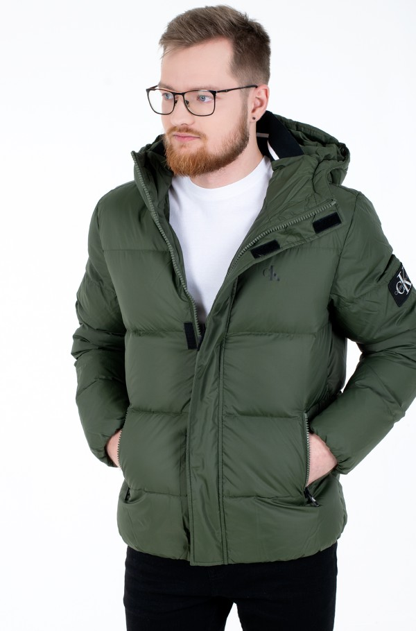 HOODED DOWN PUFFER JACKET-hover