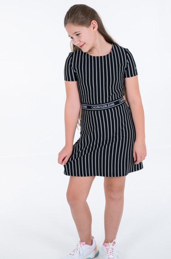 CITY STRIPE DRESS-hover