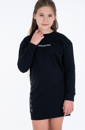 Laste pusakleit MONOGRAM TAPE SWEATSHIRT DRESS-3