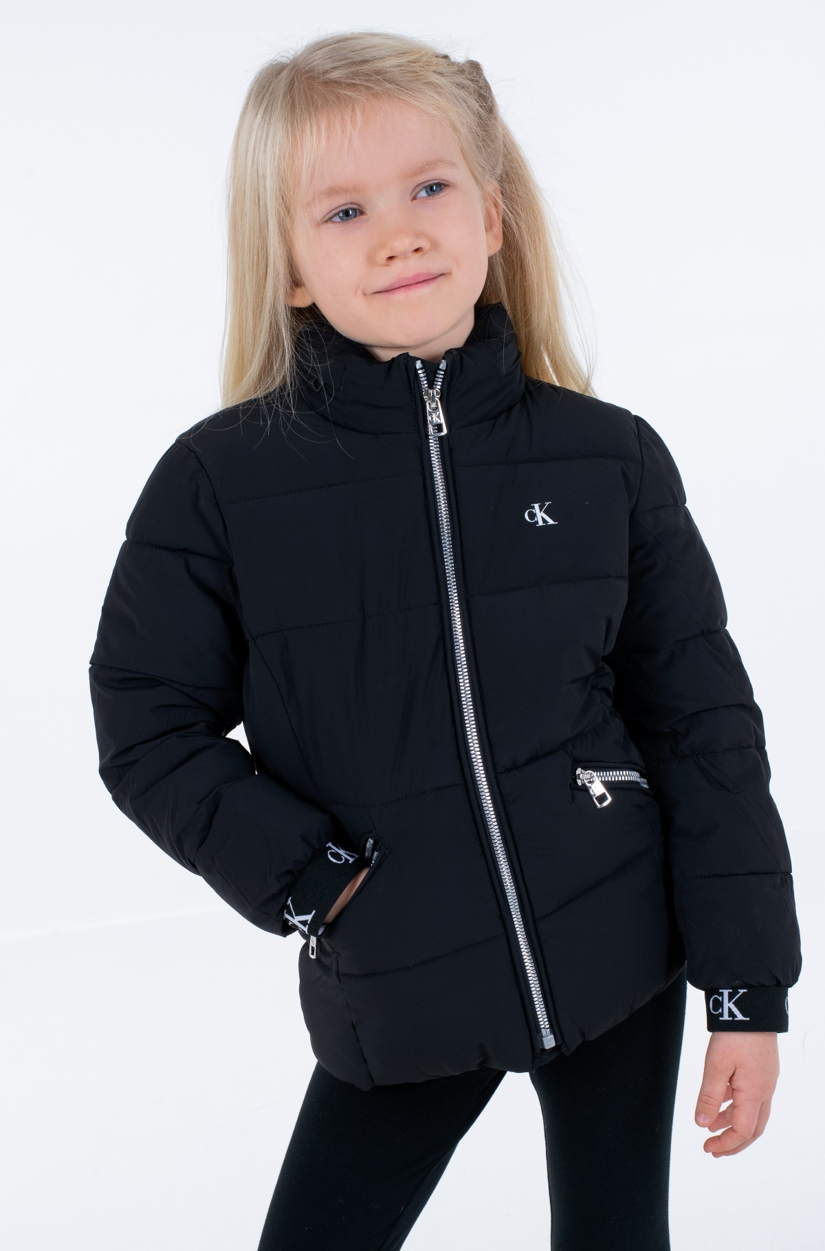 Laste jope STRETCH PUFFER JACKET-full-1