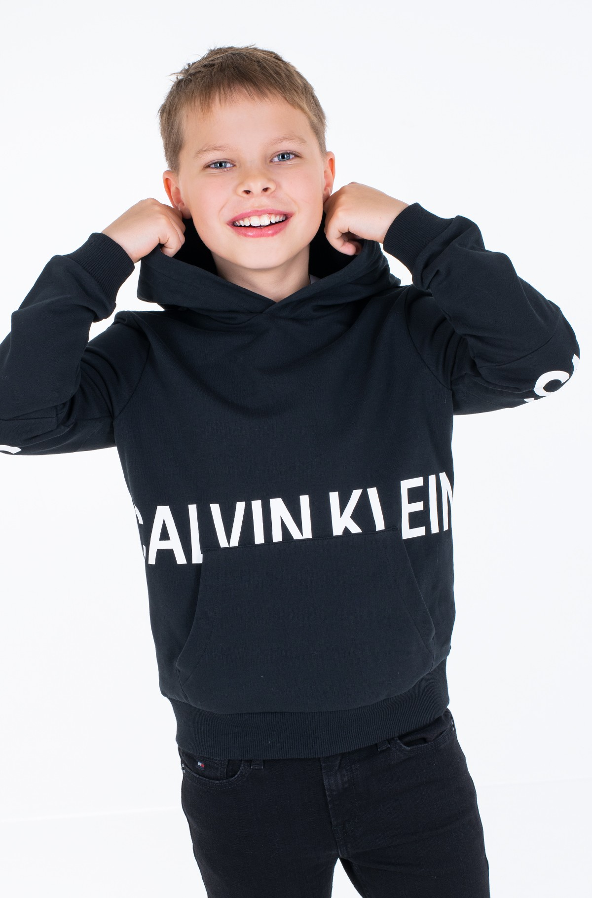 Children's sweatshirt STRETCH LOGO HOODIE-full-3