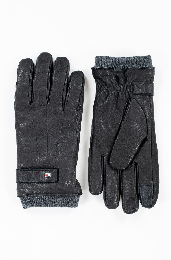 ELEVATED FLAG LEATHER MIX GLOVES