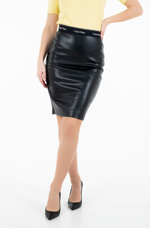 MIXED MEDIA PENCIL SKIRT