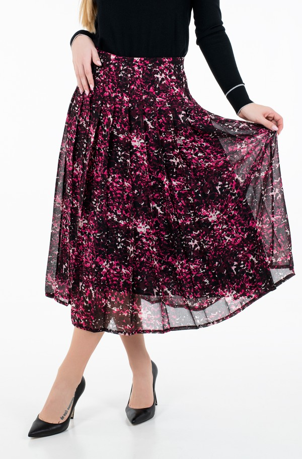 CHIFFON KNIFE PLEAT MIDI SKIRT