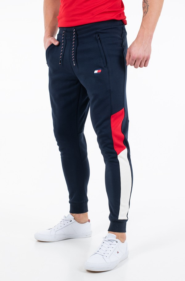 CUFFED BLOCKED FLEECE PANT-hover