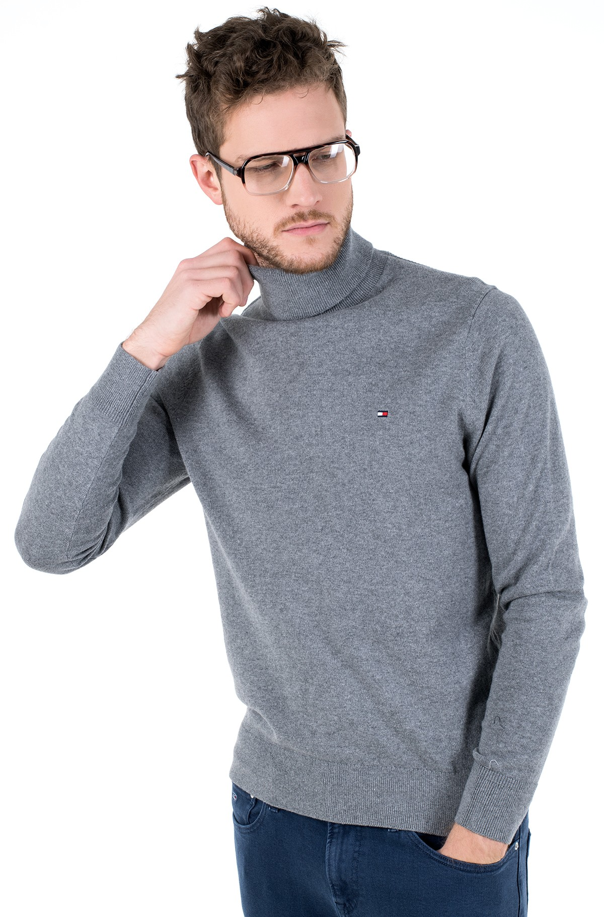 Sweater PIMA COTTON CASHMERE ROLL NECK-full-1