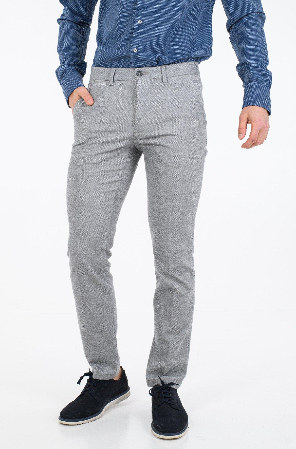 Kelnės su kantu DENTON CHINO WOOL LOOK FLEX-full-1