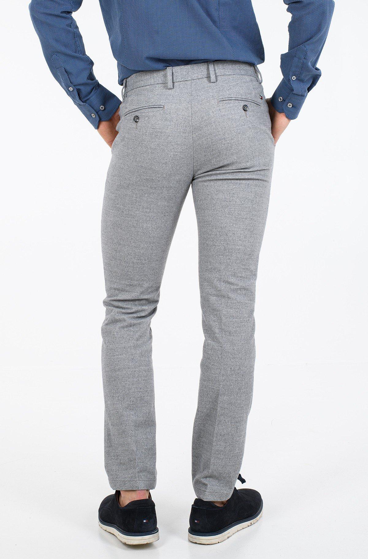 Kelnės su kantu DENTON CHINO WOOL LOOK FLEX-full-2
