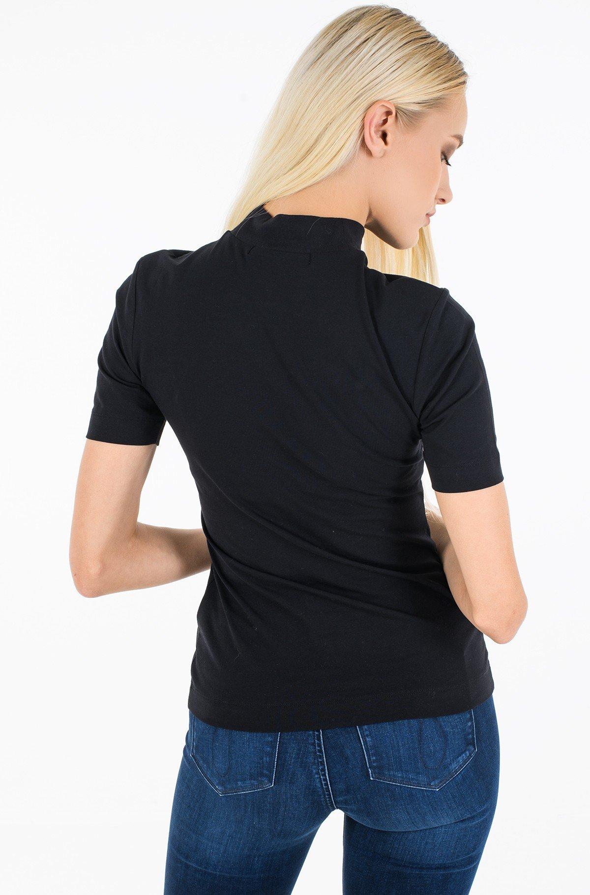 T-shirt MICRO BRANDING STRETCH MOCK NECK-full-2