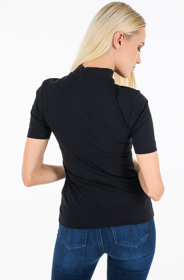 MICRO BRANDING STRETCH MOCK NECK-hover