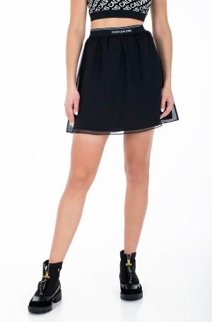 Skirt LOGO WAISTBAND CHIFFON SKIRT-1