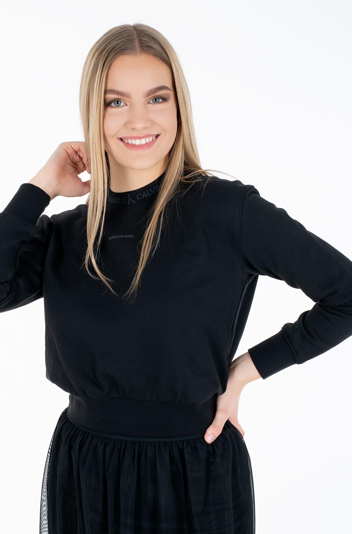 Sporta džemperis LOGO TRIM CREW NECK SWEATSHIRT-full-1