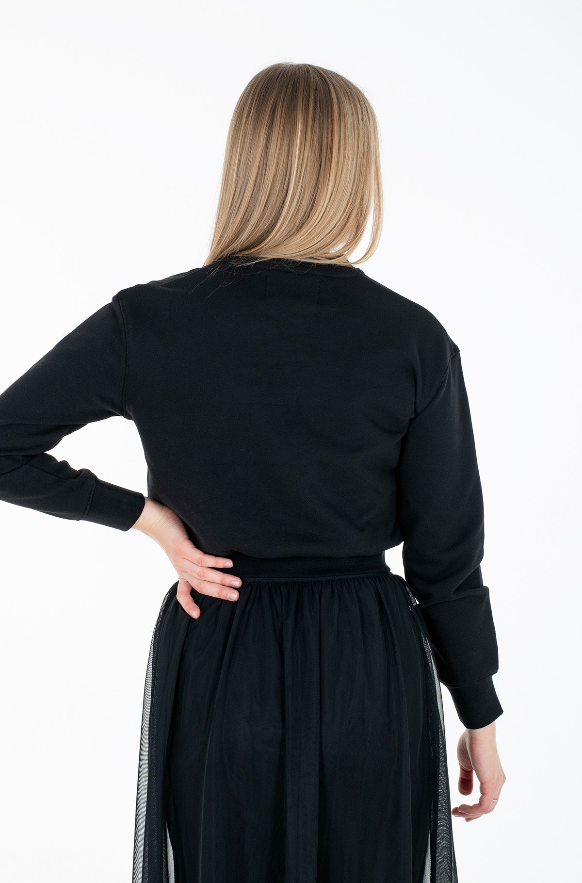 Sporta džemperis LOGO TRIM CREW NECK SWEATSHIRT-full-2