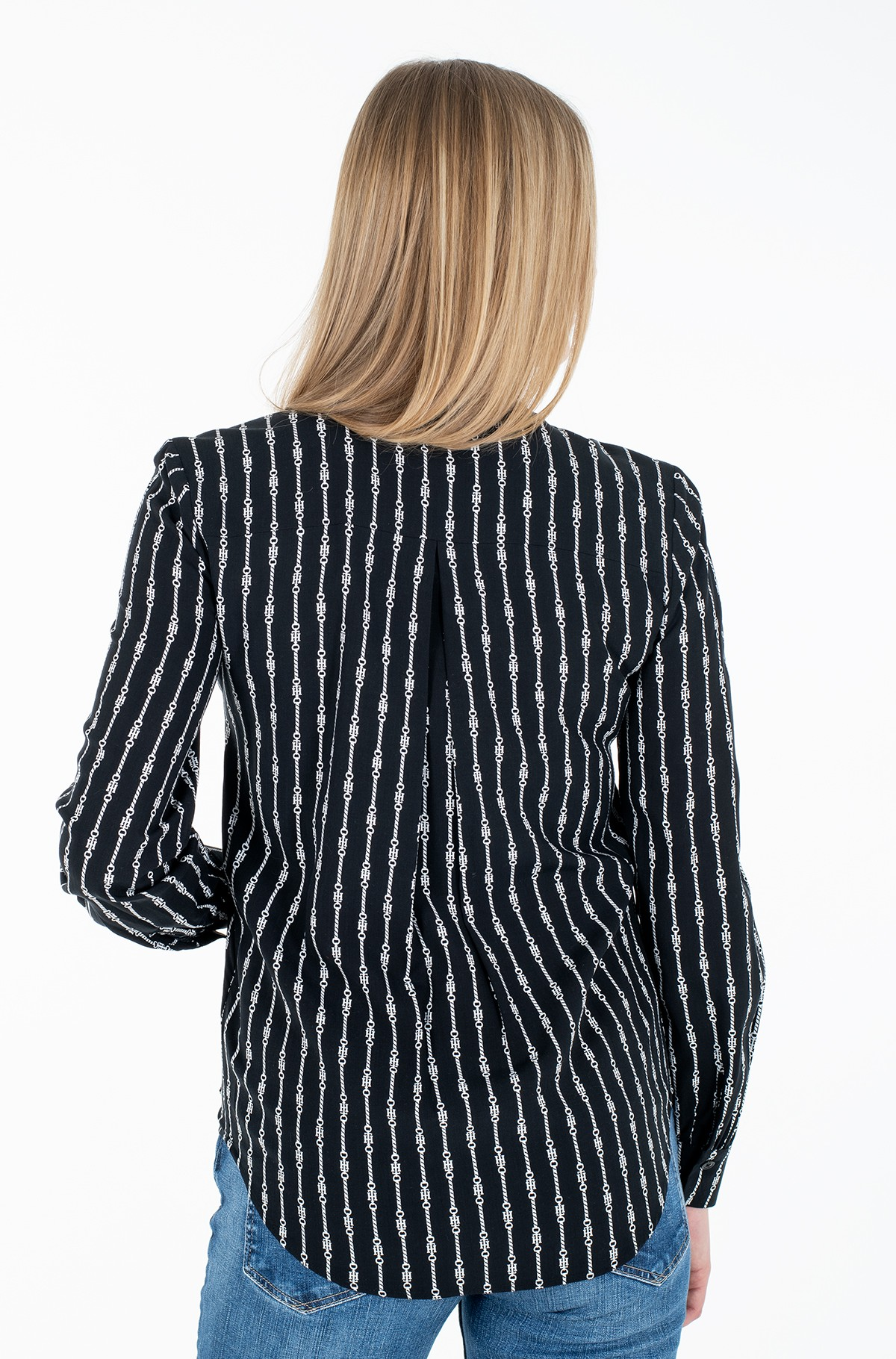 Triiksärk COLLARLESS REGULAR BLOUSE LS-full-2