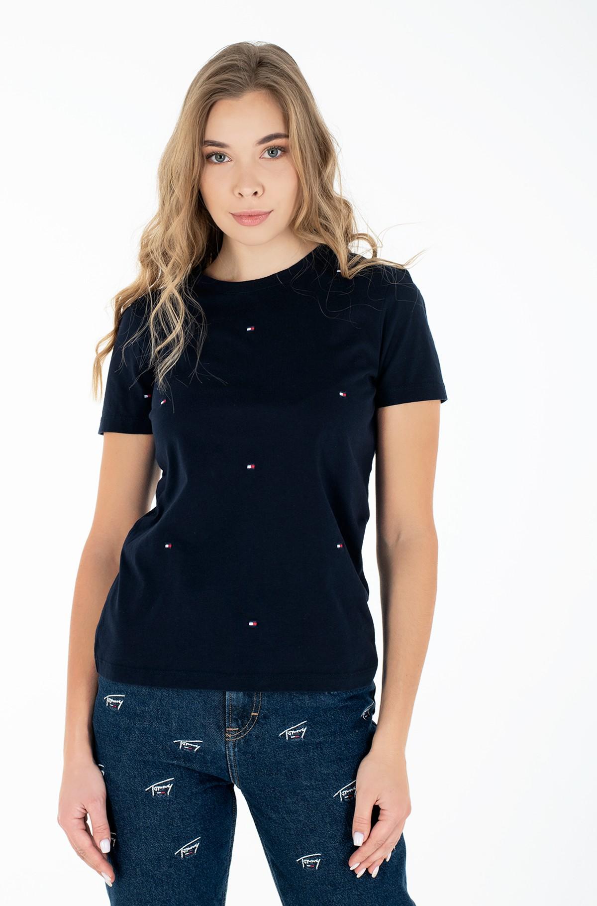 Marškinėliai REGULAR CREW-NECK T-SHIRT-full-1