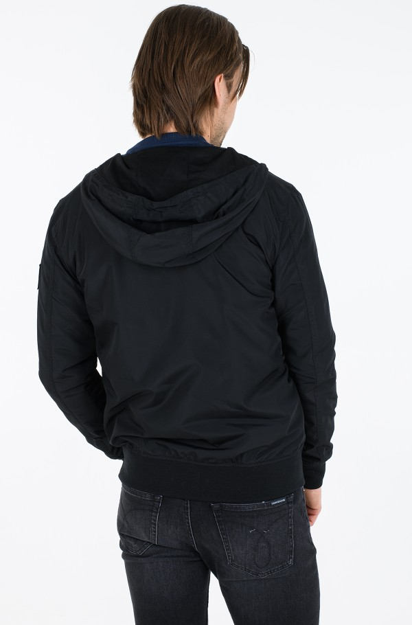 ESSENTIALS HOODED BOMBER-hover