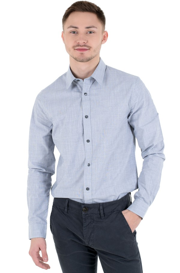 STRUCTURED SLIM STRETCH SHIRT