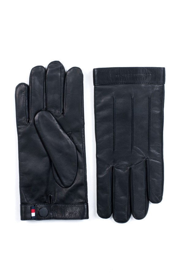 LOGO EMBOSSED LEATHER GLOVES