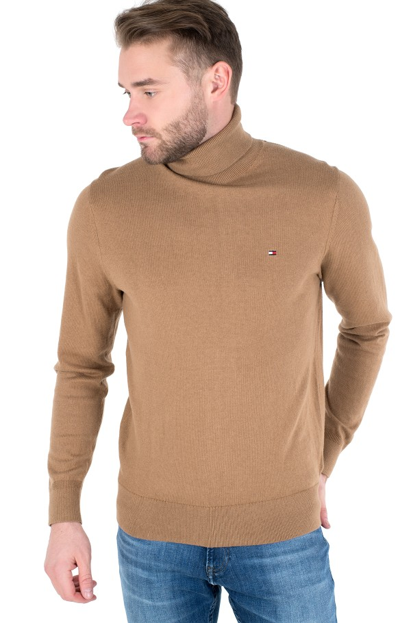 PIMA COTTON CASHMERE ROLL NECK