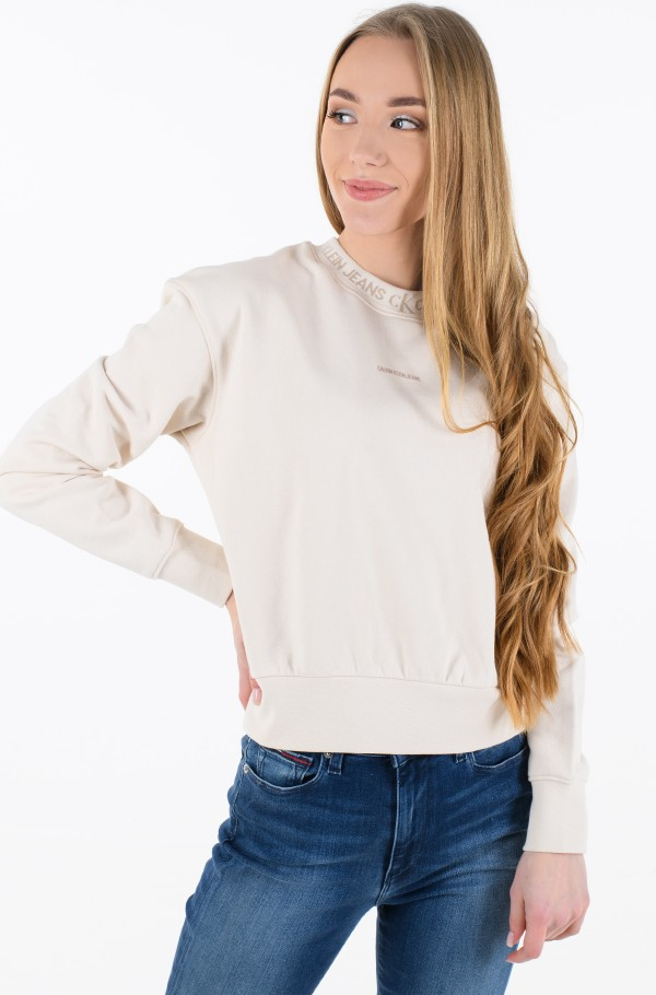 LOGO TRIM CREW NECK SWEATSHIRT