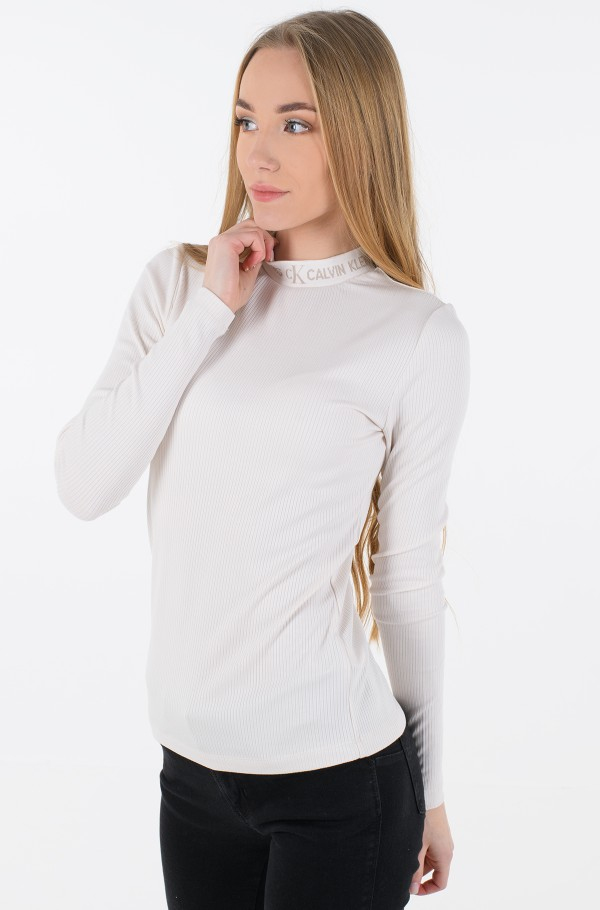 LOGO TRIM RIB LONG SLEEVES-hover
