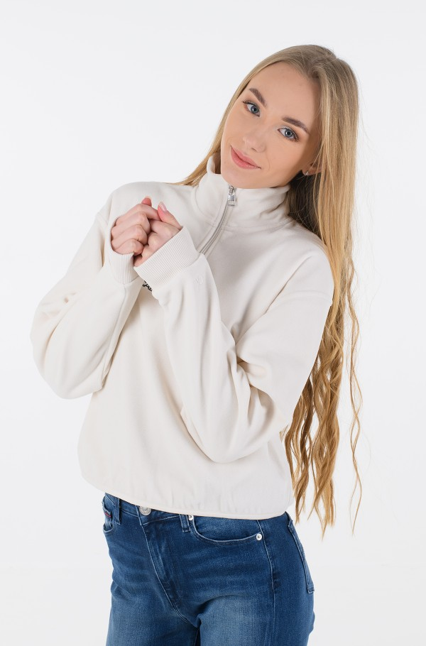 POLAR FLEECE HALF ZIP SWEATSHIRT