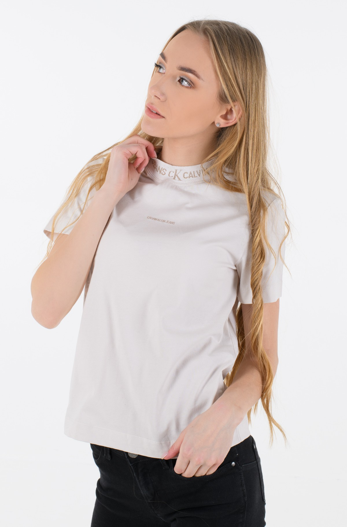 T-shirt LOGO INTARSIA TEE-full-1