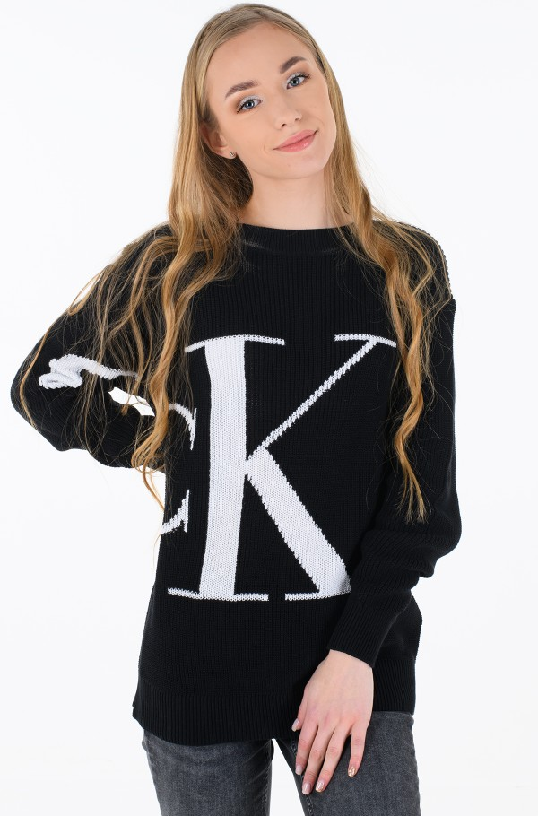 SLICED CK OVERSIZED SWEATER