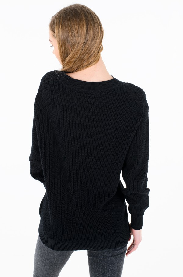 SLICED CK OVERSIZED SWEATER-hover