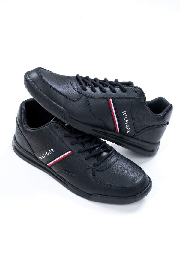 LIGHTWEIGHT LEATHER MIX SNEAKER-hover