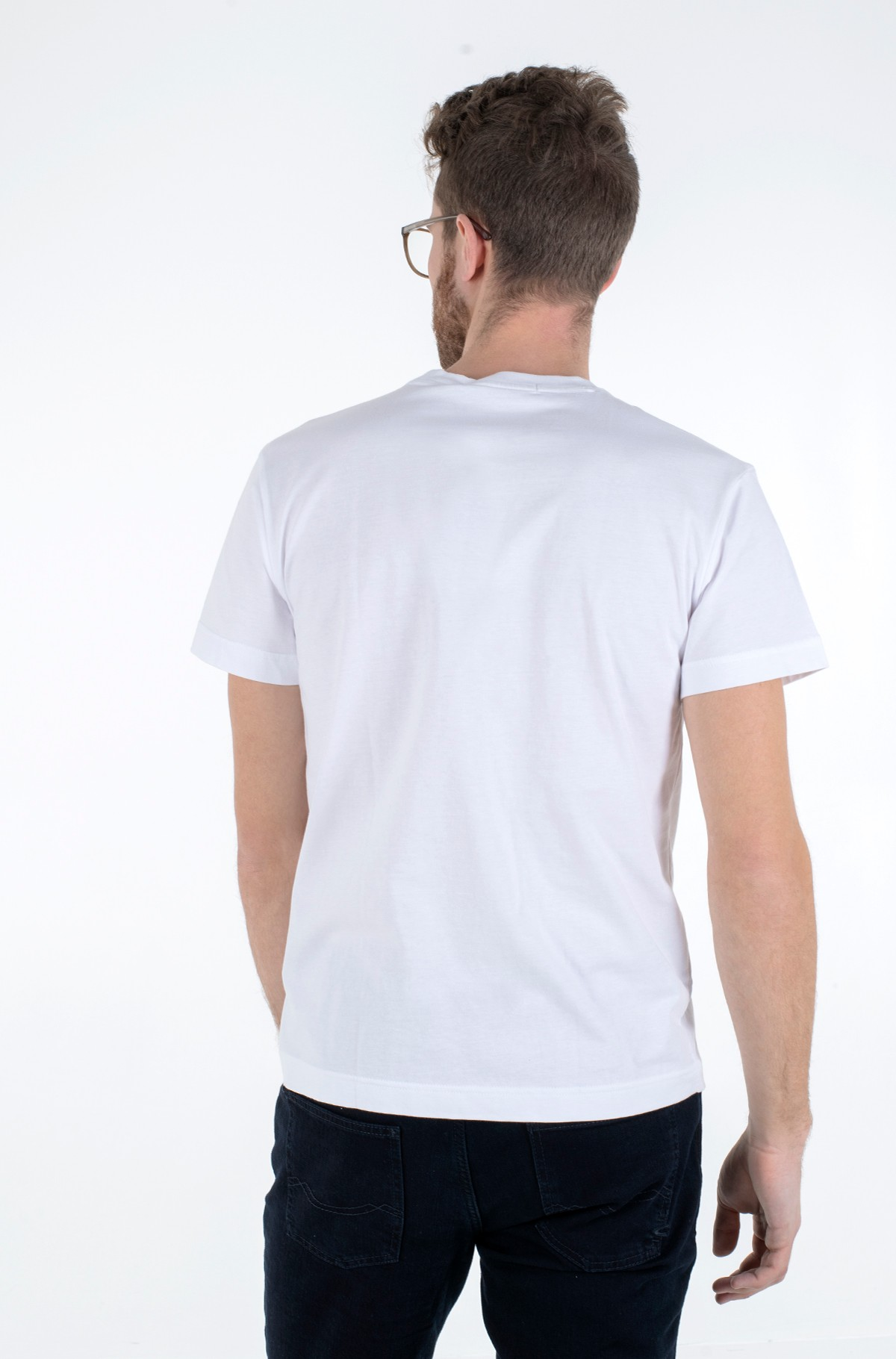 Marškinėliai HORIZONTAL CK POCKET TEE-full-2