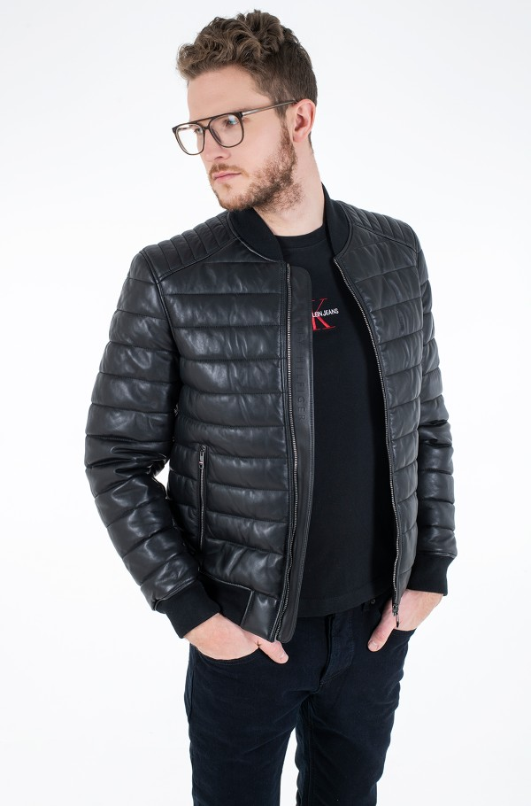 2 MB QUILTED LEATHER JACKET