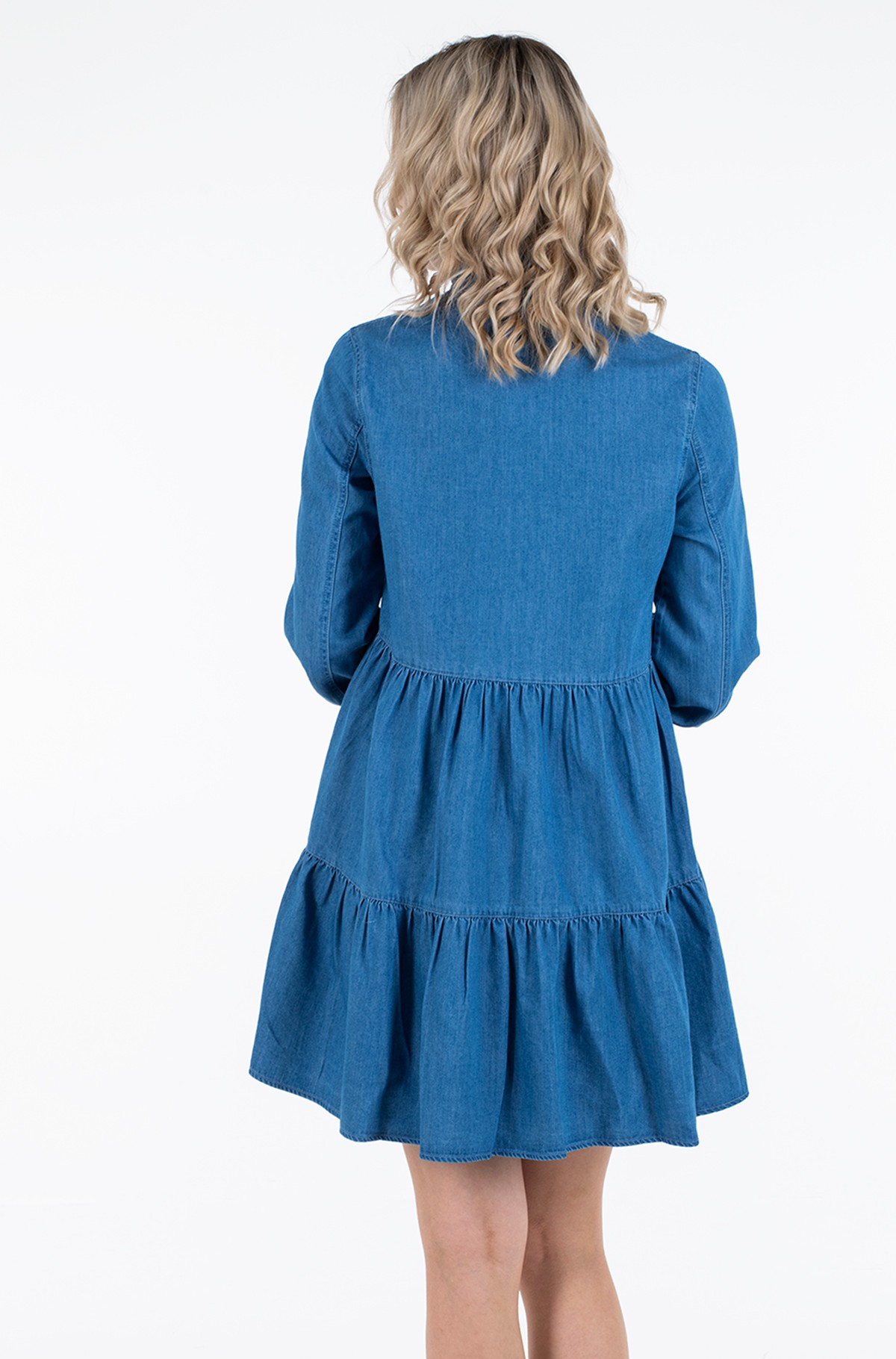 Džinsu kleita TJW CHAMBRAY SHIRT DRESS LS-full-3