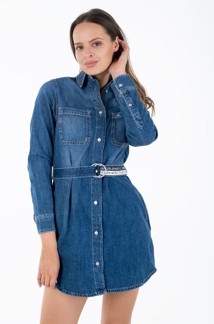 Denim dress RELAXED SHIRT DRESS-1