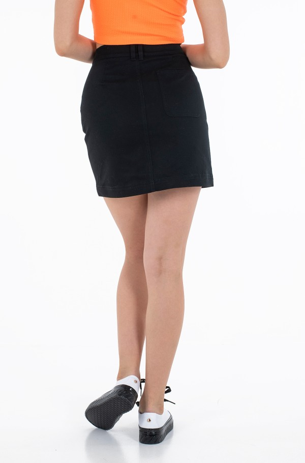 COTTON TWILL MINI SKIRT-hover