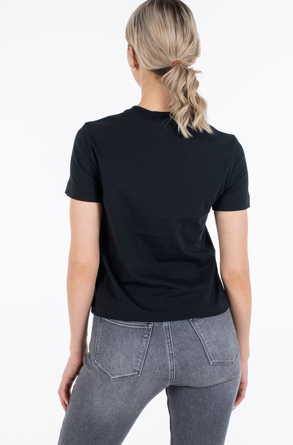 SATIN BONDED FILLED CK TEE-hover