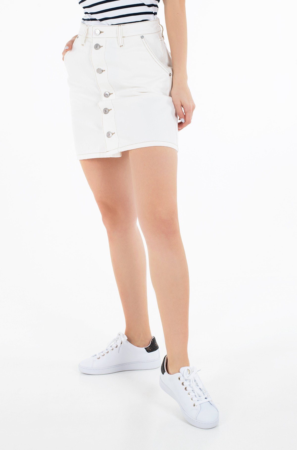 Teksaseelik A-LINE SHORT DENIM SKIRT SSPWR-full-1