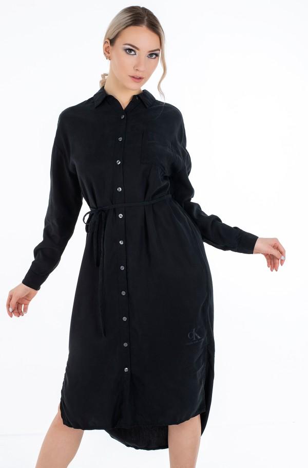 TENCEL MAXI SHIRT DRESS