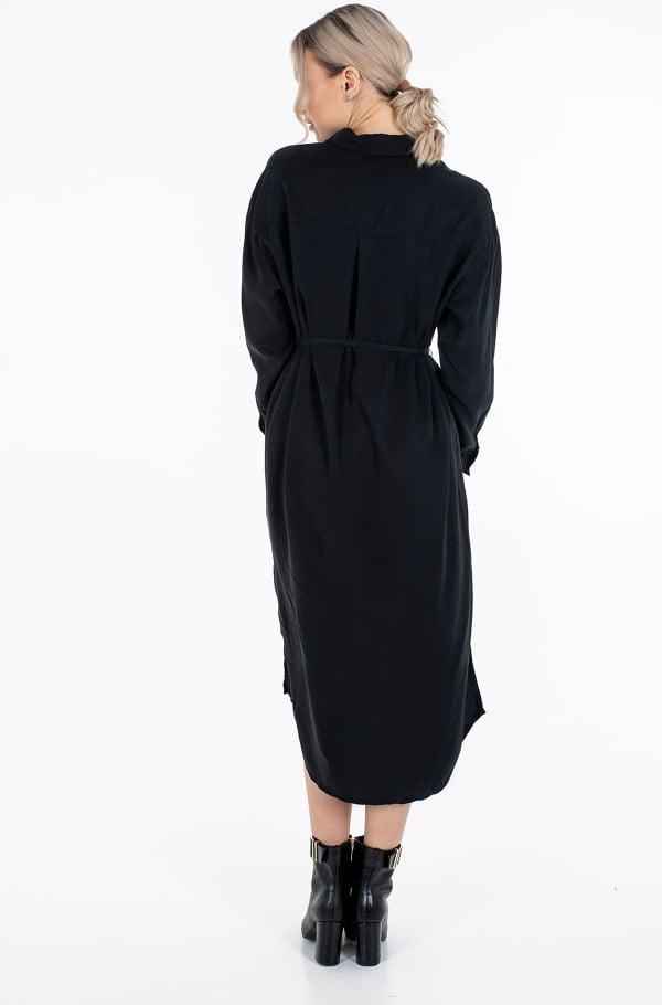 TENCEL MAXI SHIRT DRESS-hover