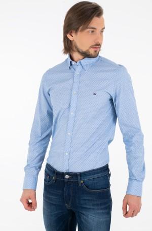 Shirt SLIM DOTTED SQUARE PRINT SHIRT-1