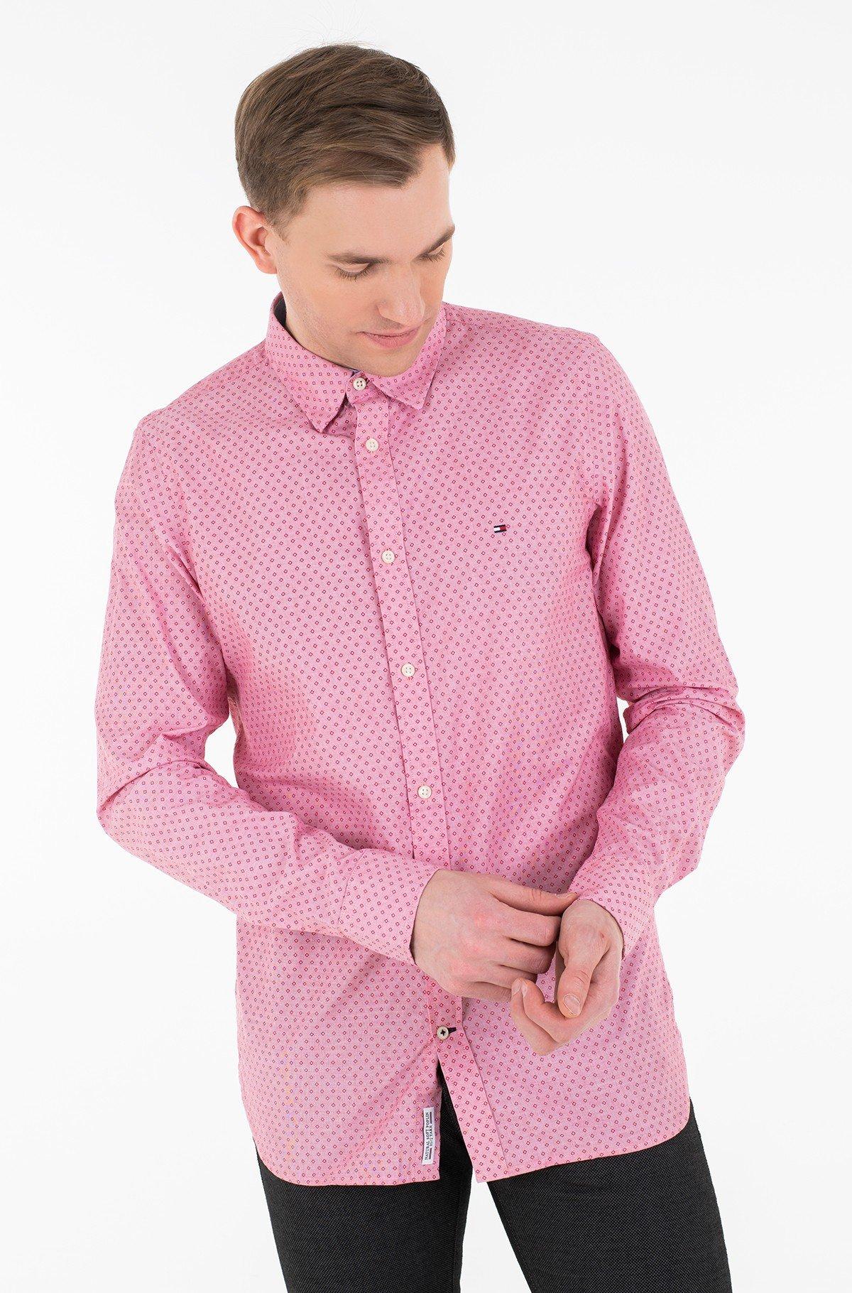 Marškiniai SLIM DOTTED SQUARE PRINT SHIRT-full-1