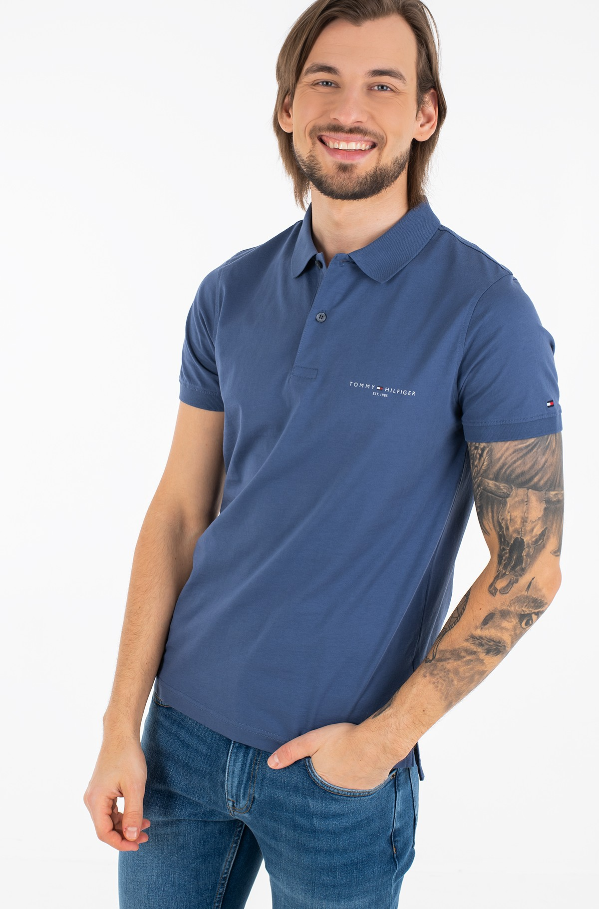 Polo CLEAN JERSEY SLIM POLO-full-1