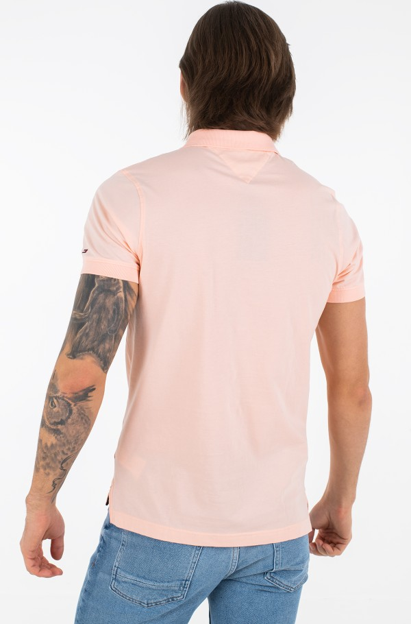 CLEAN JERSEY SLIM POLO-hover