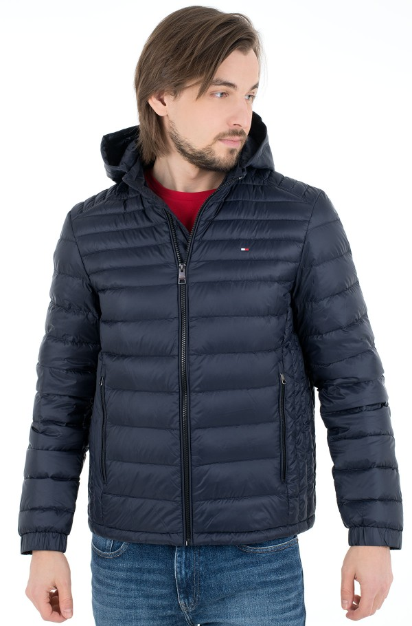 PACKABLE DOWN HOODED JACKET