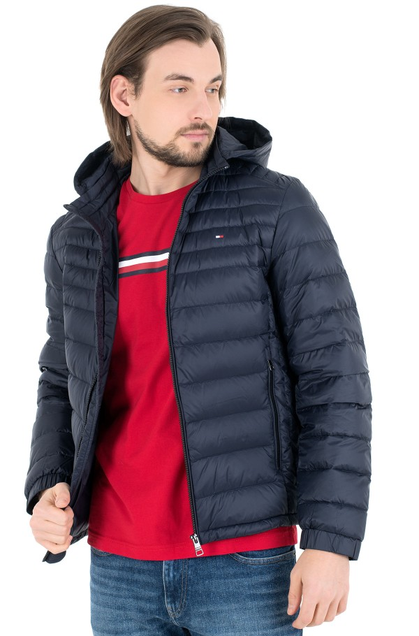 PACKABLE DOWN HOODED JACKET-hover