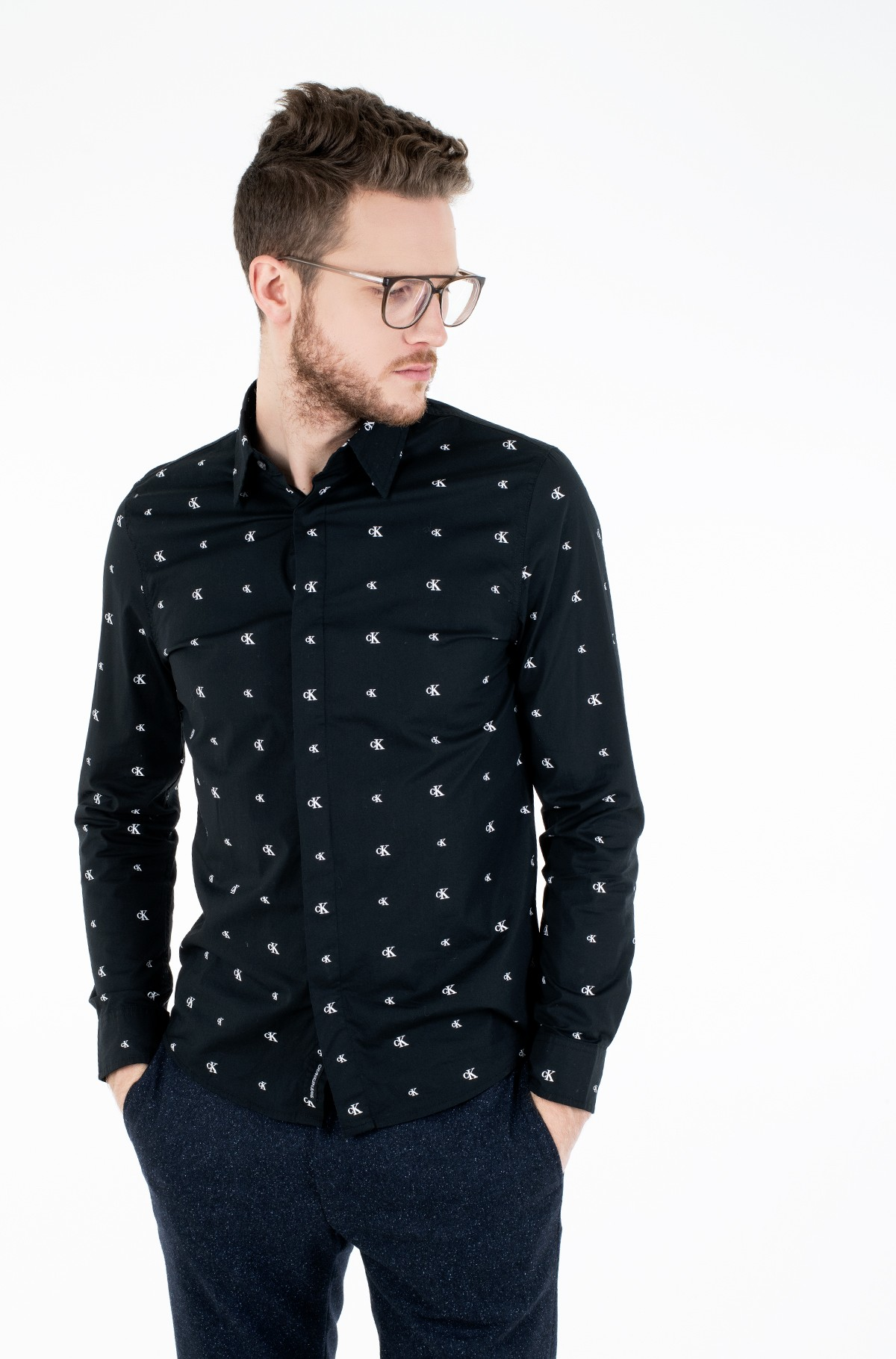 Marškiniai SEASONAL PATTERN STRETCH SHIRT-full-1